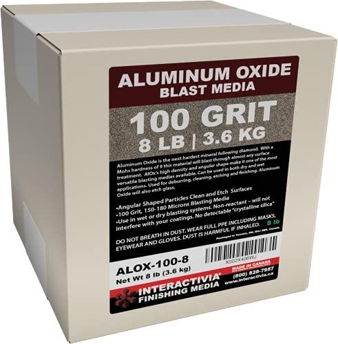 #100 Aluminum Oxide - 8 LBS or 3.6kg - Medium to Fine Sand Blasting Abrasive Media for Blasting Cabinet or Blasting Guns.