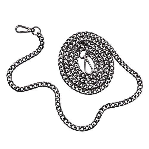 HEALLILY Handtasche Geldbörse Ersatzketten Metallbeutel Riemen Ersatzbeutel Ketten für Damen Tasche Geldbörse Handtaschen (retro schwarz)