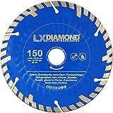 LXDIAMOND, 2 dischi diamantati da 150 mm x 22,23 mm Premium KS, pietra arenaria calcarea dura, granito, pietra naturale, Turbo diamantata per fresatrice a muro 150 mm