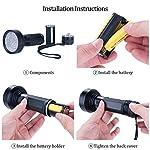 UV Flashlight Black Light, WJZXTEK 68 LED 395nm Ultraviolet Blacklight Detector for Dog Urine,Dry Stains,Bed Bug, Matching with Pet Odor Eliminator(Batteries Not Included) 13