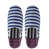 Danke ルームシューズ Roomshoes G Ladys BORDER BLUExPURPLE FREE (約24cm) パッカブル DWZ0907 [正規代理店品]