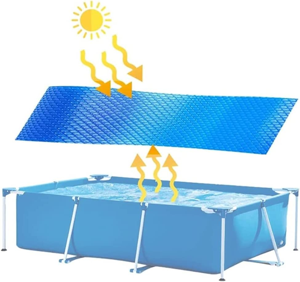 GJXJY Cubierta Solar Ovaladarectangular Azul Manta De Lona Solar TéRmica para Piscinas Enterradas Y Elevadas Use El Sol para Calentar El Agua De La Piscina