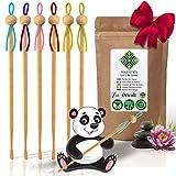Oriculi en Bambou Biologique 6x Cure Oreille Ecologique Reutilisable vie pour remplacer le Coton Tige Garantie VIE Nettoyeur d'oreilles Japonais Zero Dechet