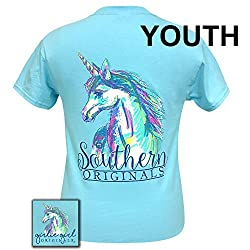 Girlie Girls Watercolor Unicorn Short Sleeve T-Shirt - YOUTH