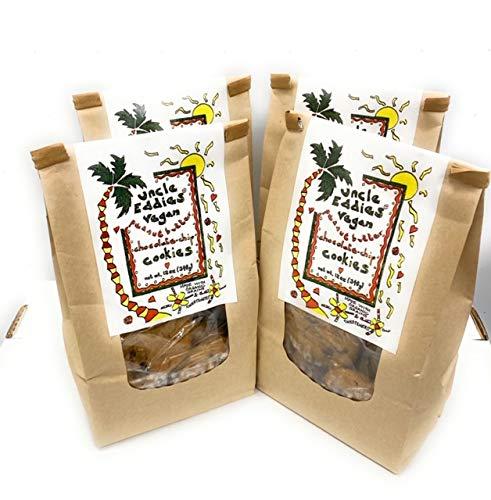 UNCLE EDDIES VEGAN PEANUT BUTTER CHOCOLATE CHIP COOKIES SOFT CHEWEY FRESH BAKERY / 4 BAGS 12 oz = 48 oz