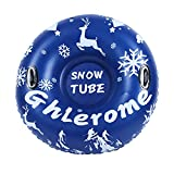 Ghlerome 47 Ih Snow Tube, Inflatable Sled for Children&Adults with Handles, Made of Heavy-Duty 0.6mm Thick Wear-Resistant&Antifreeze Material for Winter Outdoor Sports, Families,Holidays