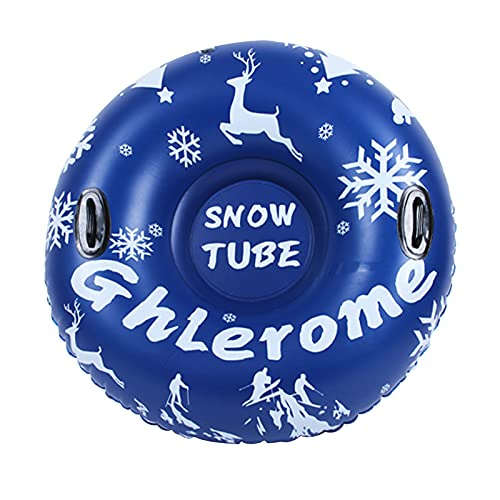 Ghlerome 47 Ih Snow Tube, Inflatable Sled for Children&Adults with Handles, Made of Heavy-Duty 0.6mm...