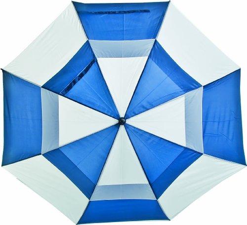 LONGRIDGE Boston Golf PALRBW - Paraguas de Doble Capa Bicolor, Color Azul Royal y Blanco