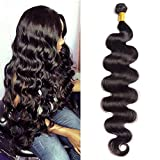 Maxine Hair 10A Brazilian Virgin Body Wave Hair 1 Bundle 100% Unprocessed Long inch Human Hair Weave Extensions Natural Color Can Be Dyed and Bleached 40 inch
