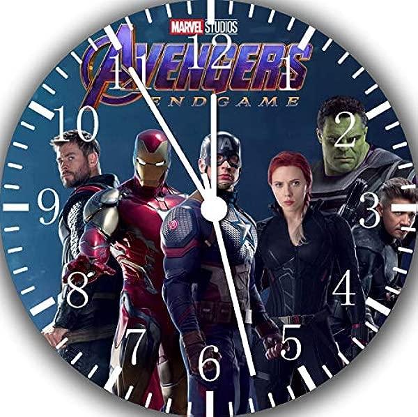 Borderless The Avengers Endgame Frameless Wall Clock G15 Nice For Decor Or Gifts