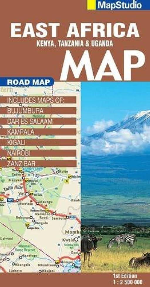 East Africa Road Map 1:2,500,000 (Kenya,Tanzania, Uganda)