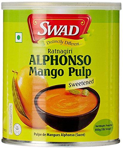 Swad Alphonso Mango Pulp 850 g, sweetened, Mangopürre gesüßt