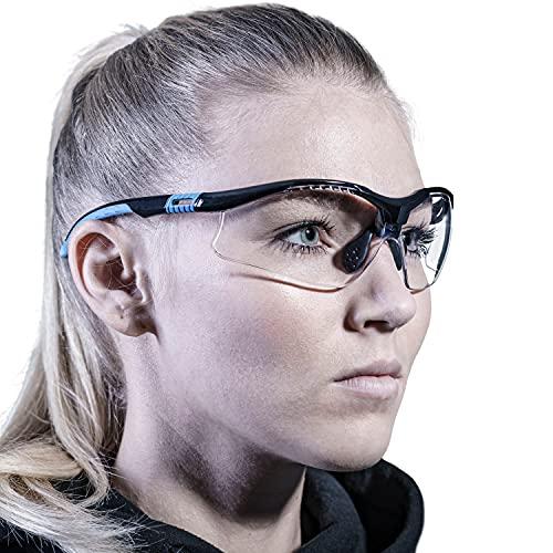 Solid. Schutzbrille mit perfekter Passform & integriertem Seitenschutz | Arbeitsschutzbrille für Rundumschutz | Klare, kratzfeste, beschlagfreie & UV-schützende Gläser | Für Männer & Frauen