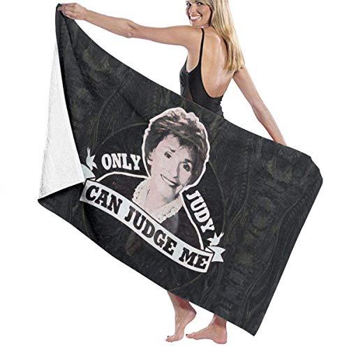 Only Judy Can Judge Me Toallas de baño para Piscina / Playa Microfibra súper Absorbente Suave Manta de Toalla Impresa de una Cara tamaño 31 Pulgadas x 51 Pulgadas