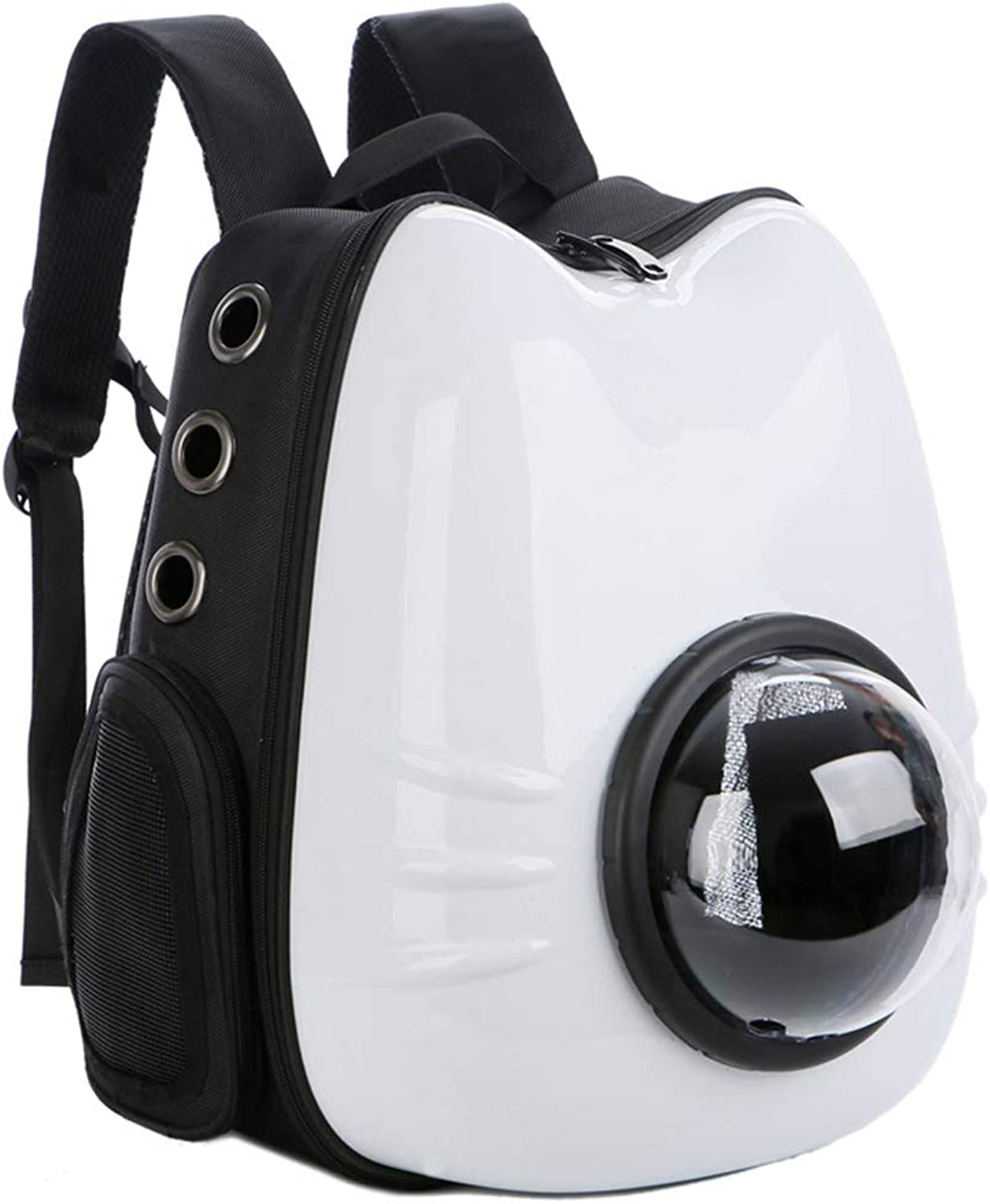 Pet Carrier Bags 180 Degree Transparent, Portable Pet Bag Space Capsule Bubble Design, Pet Travel Carrier Bag Airline Approved for Car Train and Airplane Travel,White