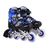 QWICK CLICK in-line Roller Skates for Kids, Very Adjustable & Comfortable to Use (Pair of 1) in-line Skates - Size 38-42 UK (Blue)