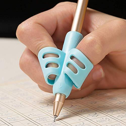 Bleistift Griffe, Queta 6 Teile Silikon Schreibhilfe Ausbildung fur Kinder Bleistifthalter Stift Schreibhilfe Grip Haltungskorrektur Werkzeug