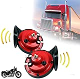 300DB Train Horn for Trucks, Motorcycle Horn 12v Loud Waterproof, Dual Audio Air Horn Raging Sound For Car...