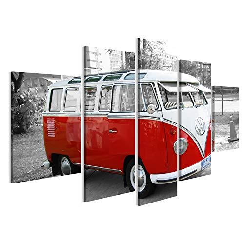 Bild Bilder auf Leinwand Bulli Bus T1 Vintage Wandbild, Poster, Leinwandbild MVG