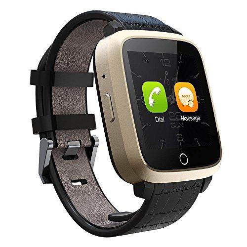 TKSTAR Reloj Inteligente Bluetooth Smart Watch Teléfono Inteligente Pulsera con Cámara Pantalla Táctil Soporte SIM/TF para Android Samsung HTC LG Huawei Sony Reloj Deportivo JU-U11S