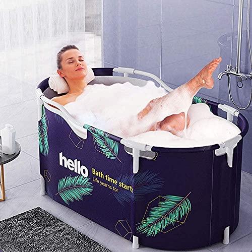 Bañera plegable Classic Oval Indoor Bathtub Bathtubs portátiles para adultos Hogar Spa Bañera Barril Movible Bañera plegable Barril Bañera Bañera Bañera Bañera de baño Invierno Turbinas de baño de agu ✅