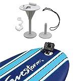 Hooshion Bodyboard Wakeboard Foam Surfboard Mount Kit Surfing Mount with Anti-Lost Strap for GoPro Hero 8/7/6/5/4/3+/3/2/1 (White)