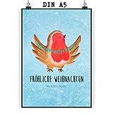 Mr. & Mrs. Panda Geschenk, Bild, Poster DIN A5 Rotkehlchen