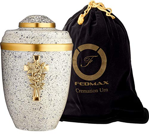 Fedmax White Funeral Cross Urn