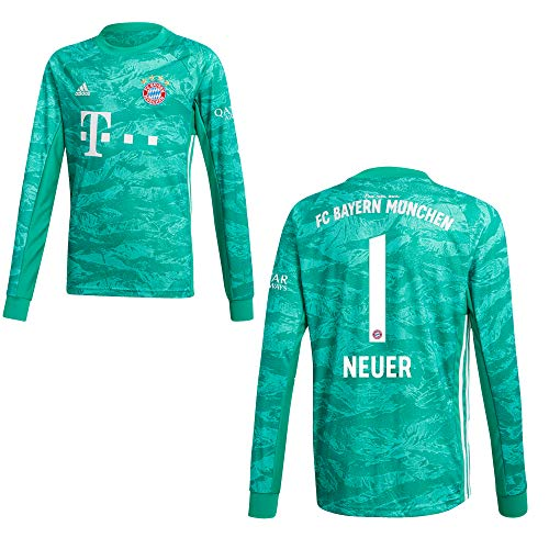 adidas FC Bayern Trikot Torwart Kinder 2020 - Neuer 1, Größe:164
