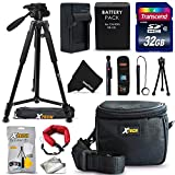 20 Piece Accessory Kit for Canon Powershot SX60, SX50 SX40 HS, G1X, G16, G15 Digital Camera Includes: 32GB SD Memory NB-10L Battery & Charger, Case, Tripod + Accessories Bundle