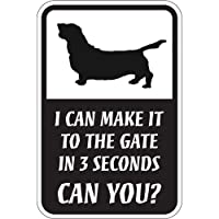 CAN YOU?マグネットサイン:バセットハウンド(スモール) I CAN MAKE IT TO THE GATE IN 3 SECONDS, CAN Y.
