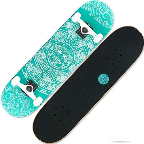 Professionelles Skateboard Für Erwachsene Komplettes Rad Truck Maple Deck Solid Longboard,B