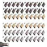 30 pcs Metal Cremallera Cola Clip Stop Zipper Tapón Cola Cabeza con Tornillo DIY Bolsa Cuero Hardware Herramienta Artesanía(Dorado)