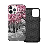 Funda protectora compatible con iPhone 12 / iPhone 12 Pro Blossoms In Central Park Cherry Bloom Trees Forest Spring Springtime Phone Case Funda de silicona suave TPU