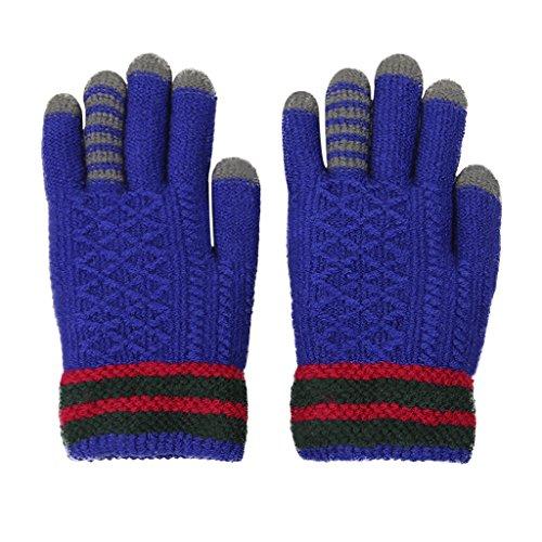 Kinder Warme Winterhandschuhe Touchscreen Süße Vollfinger Handschuhe Strickhandschuh Outdoor Radfahren Fäustlinge für Mädchen und Jungen