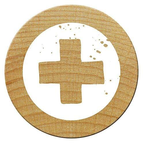 Woodies Kreuz Mini Stempel, Holz, braun, 15mm