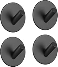 Black Self Adhesive Hooks Wall Mounted Stainless Steel Shower Hooks,Kitchen and Bathroom Accessory Set S714208700002##wh=73