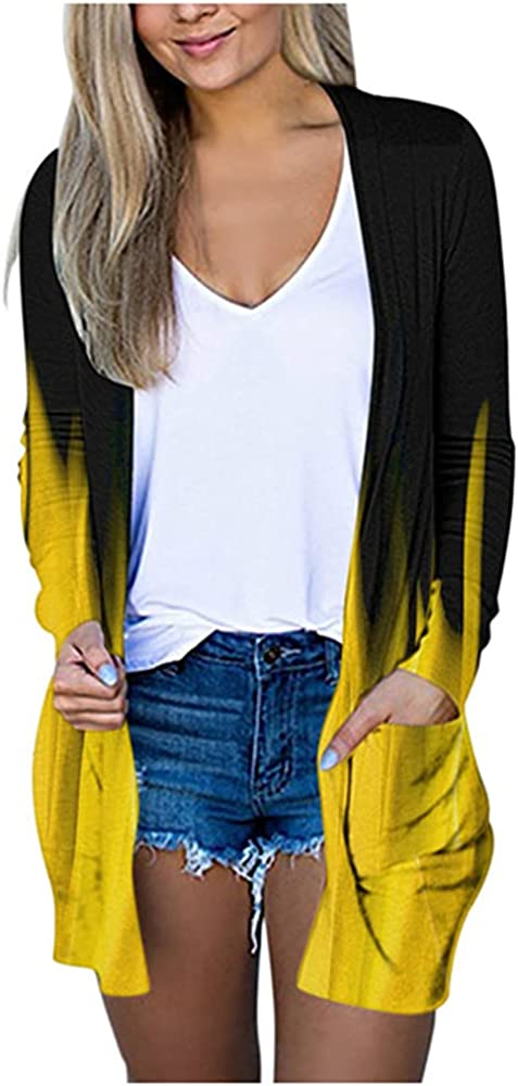 NP Flame Print Womens Long Sleeve Coat Sweater