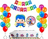 California Trader Pocoyo Balloons Birthday Party Supplies. Pocoyo Theme Party Decorations. Baby Shower Decorations. Pocoyo& Friends Table Cover. Elly Pato Loula Sleepy Bird and Much More!