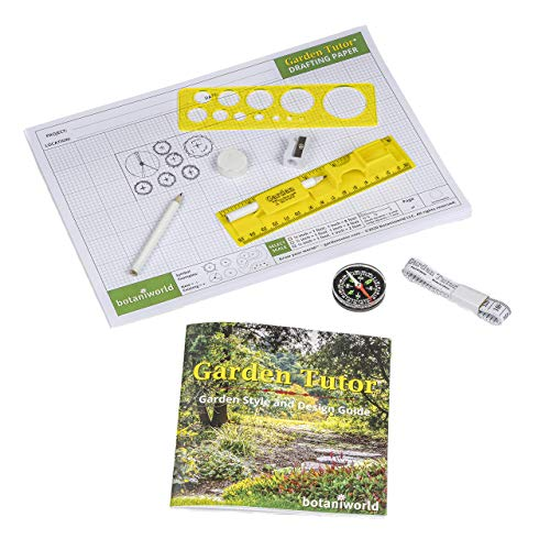 Garden Tutor Garden Design Kit - Yard and Garden Planner, Drafting, Layout and Design Tool kit with Detailed Full-Color Step-by-Step Garden Design Guidebook