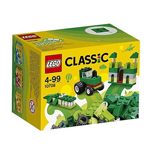 Lego Classic - Caja de construcción (66 piezas), color verde