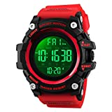 Men Large Dial Multifunction Sport Digital Watch with LED Backlight Waterproof Electronic Watch for Men