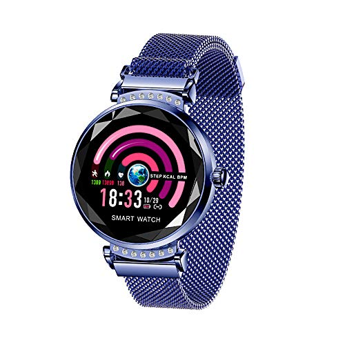 YQG Smart Horloge Fitness Tracker Voor Vrouwen, [FULL Touch Screen] Waterdichte Hartslag Monitor BP Bluetooth Smartwatch, Slaap Monitoring Stappenteller Calorie Step Counter Calls SMS