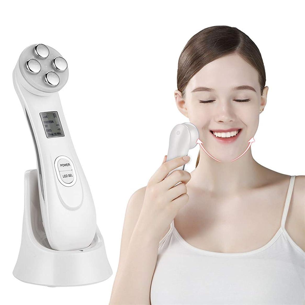 擬人トレイ固めるしわ除去機5 in 1Facial Skin Tightening Beauty Deviceは、しわの年齢や紫外線によって損傷した皮膚の外観を改善します