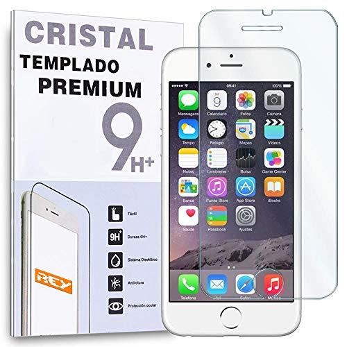 REY Protector de Pantalla para iPhone 6 6S 4.7' Cristal Vidrio Templado Premium