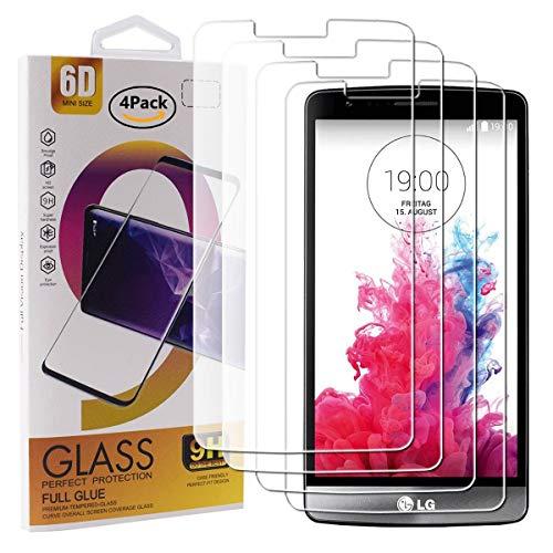 Guran 4 Paquete Cristal Templado Protector de Pantalla para LG G3S /...