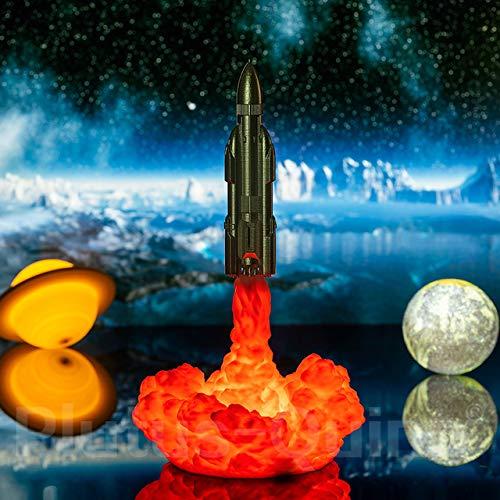 Lámpara del transbordador espacial de luz nocturna Lámpara Saturno V por lámparas de luna con impresión 3D para amantes del espacio Lámpara de cohete como regalos de Navidad