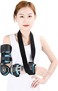 Elbow Braces Hinged, Adjustable Elbow Joint Fixed Brace Corrective Orthosis Activity Limitation Arm Fracture Protector,Fre...
