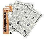 Decopatch–Papel de impresión de periódico (Pack de 3hojas)...