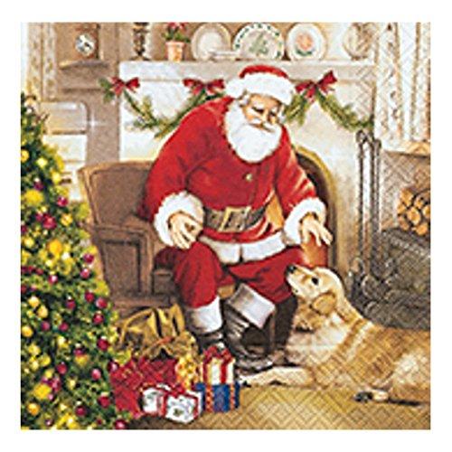"""Serviette""""Welcome Santa"""" 20 Stück"""